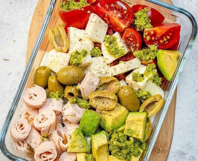 Caprese Turkey Salad