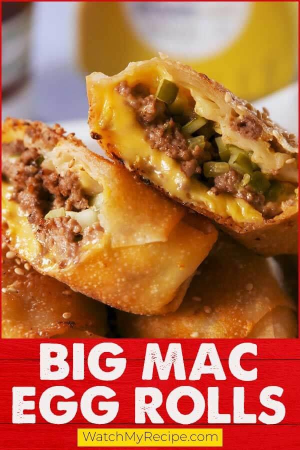 Big Mac Egg Rolls